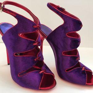 Women's TOM FORD Margo Velvet Purple Even. Sandal